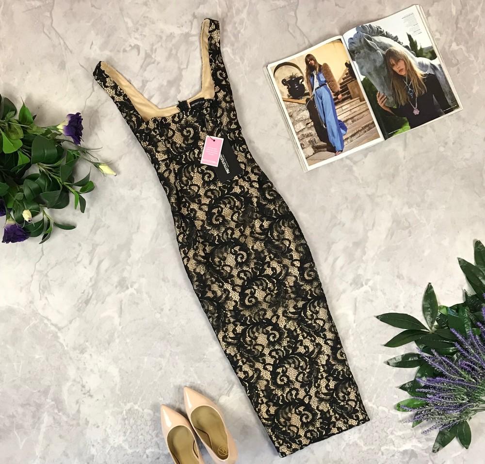 Нарядное гипюровое платье длины миди   dr1922019 фото №1