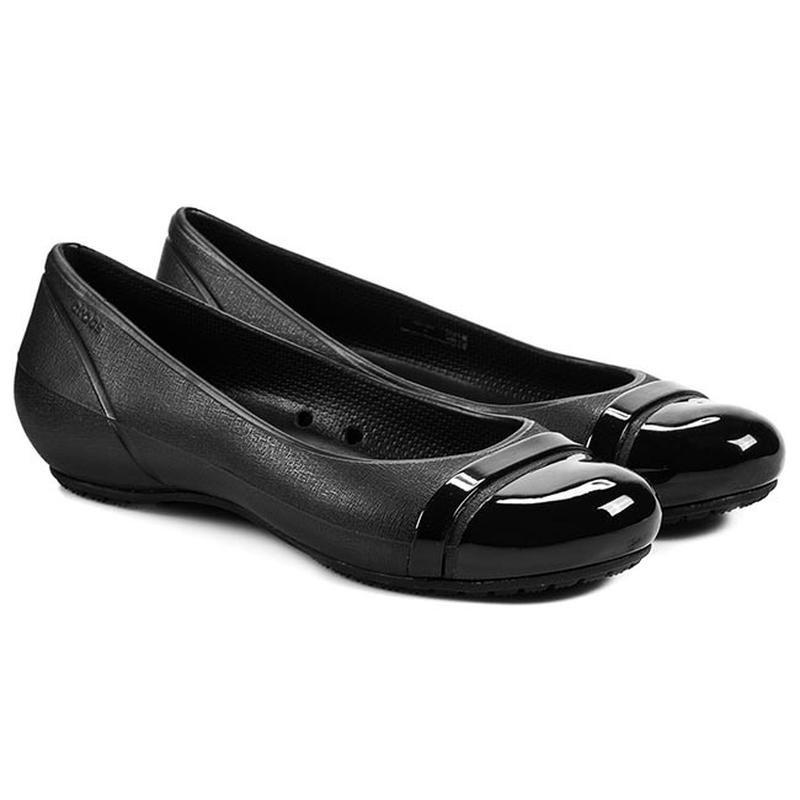 Балетки crocs cap toe flat фото №1