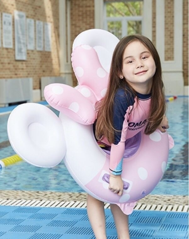 Детский надувной круг круг - ходунки микки минни маус minnie mouse и mickey mouse розовый фото №1