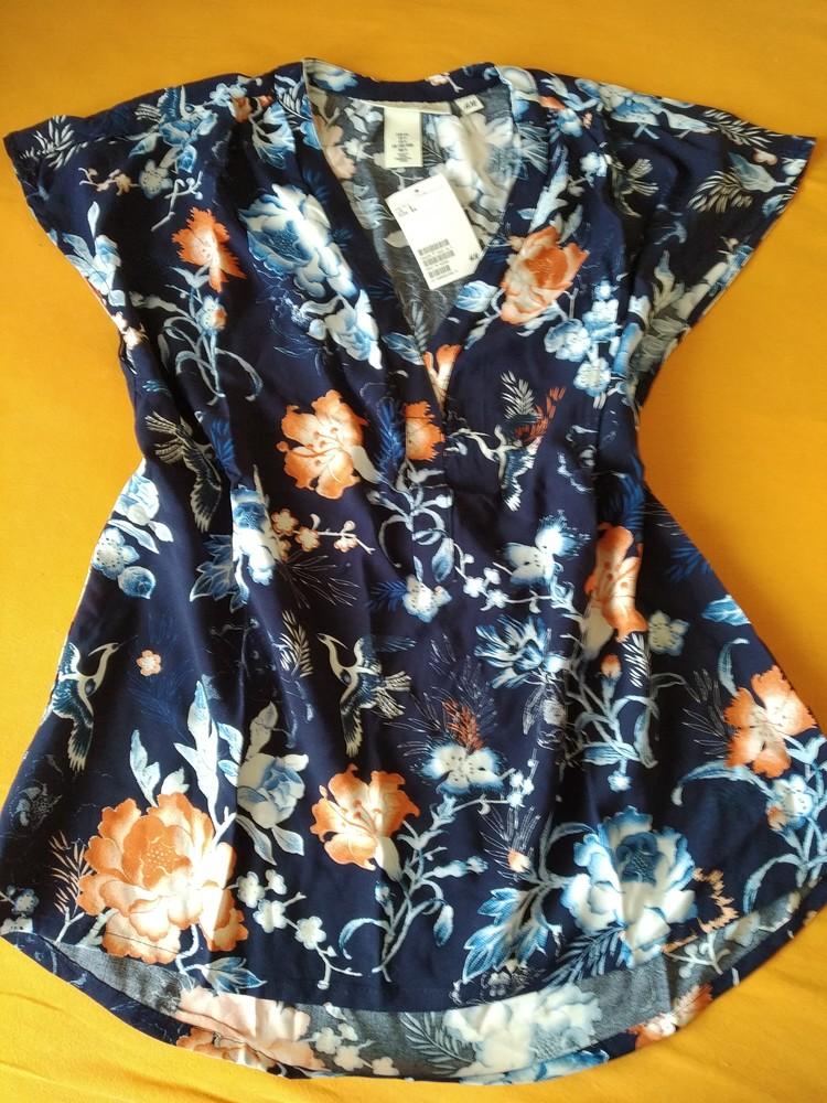 Шикарная блузка из вискозы hm фото №1