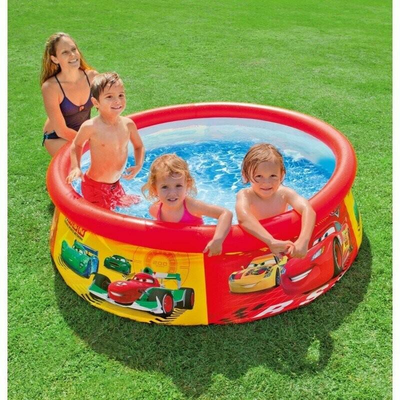 Детский семейный наливной бассейн intex тачки 28103 183 51 см. фото №1