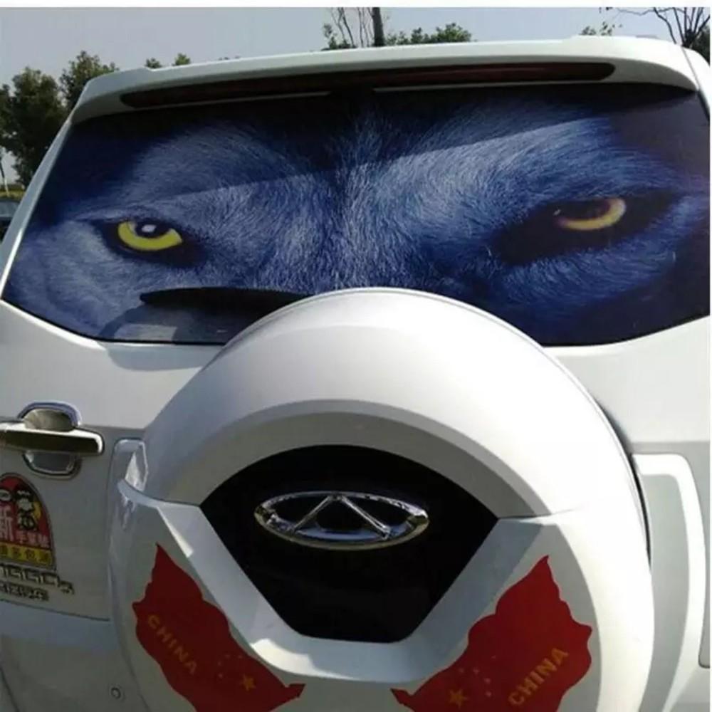 Перфорированные наклейки на авто. солнцезащитные наклейки на авто фото №1
