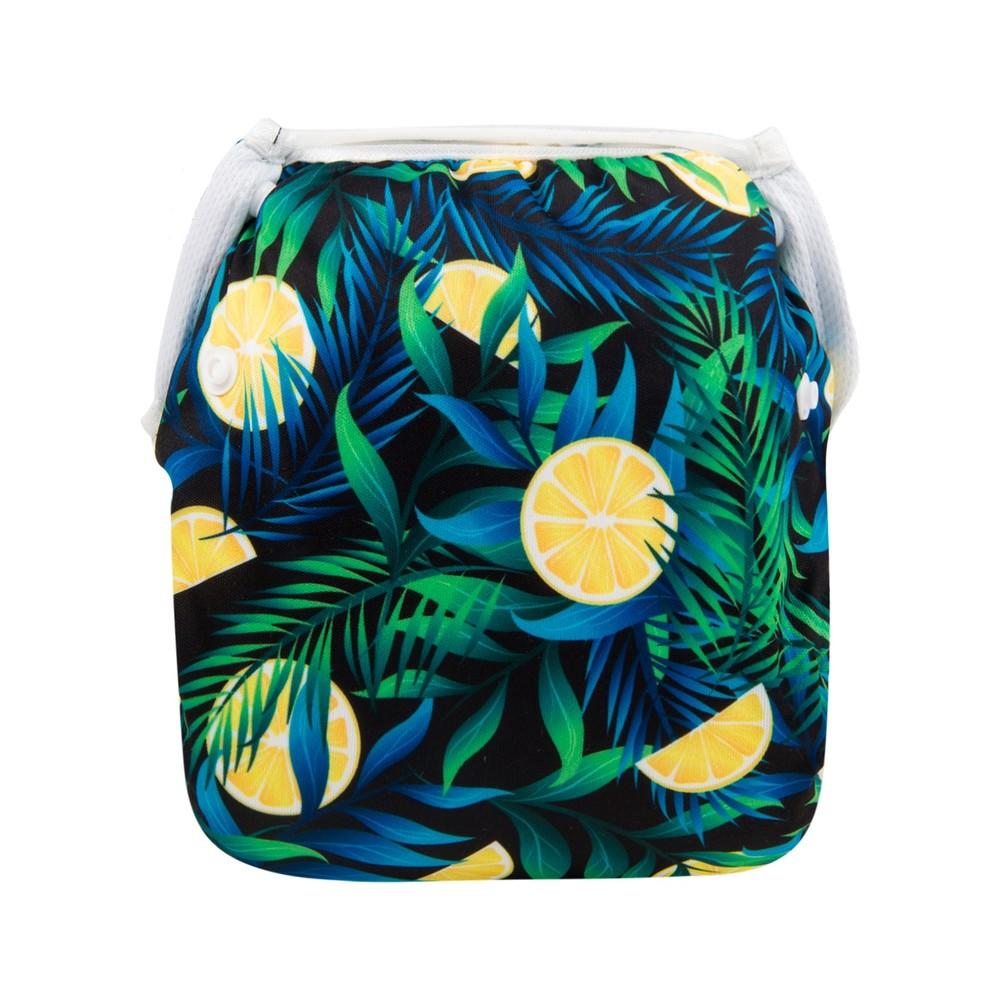 Многоразовый подгузник для плаванья лимон berni фото №1