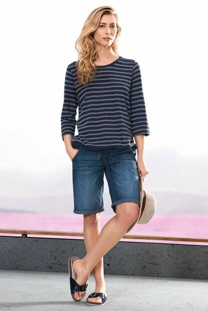 Легкие летние джинсовые шорты тcm чибо. 40 евро фото №1