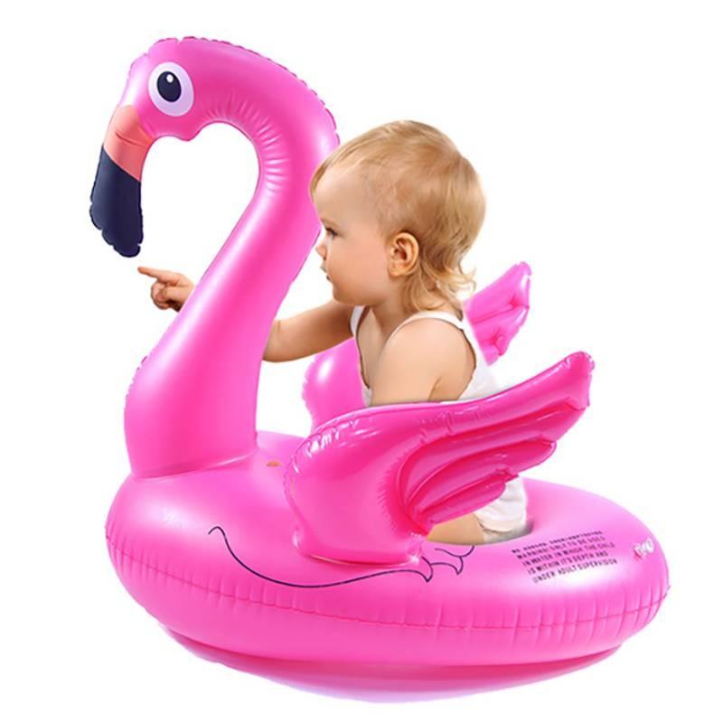 """Надувной круг розовый фламинго 75""""75 фото №1"""