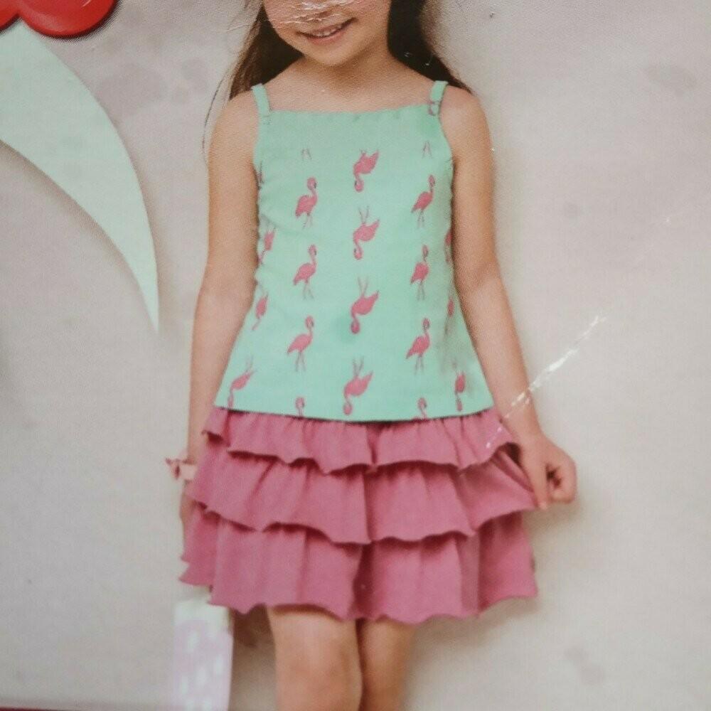 Летний набор  юбка майка 86-92, 110-116 фото №1