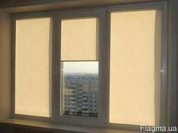 Римские шторы роллеты на окна окна маскитки фото №1