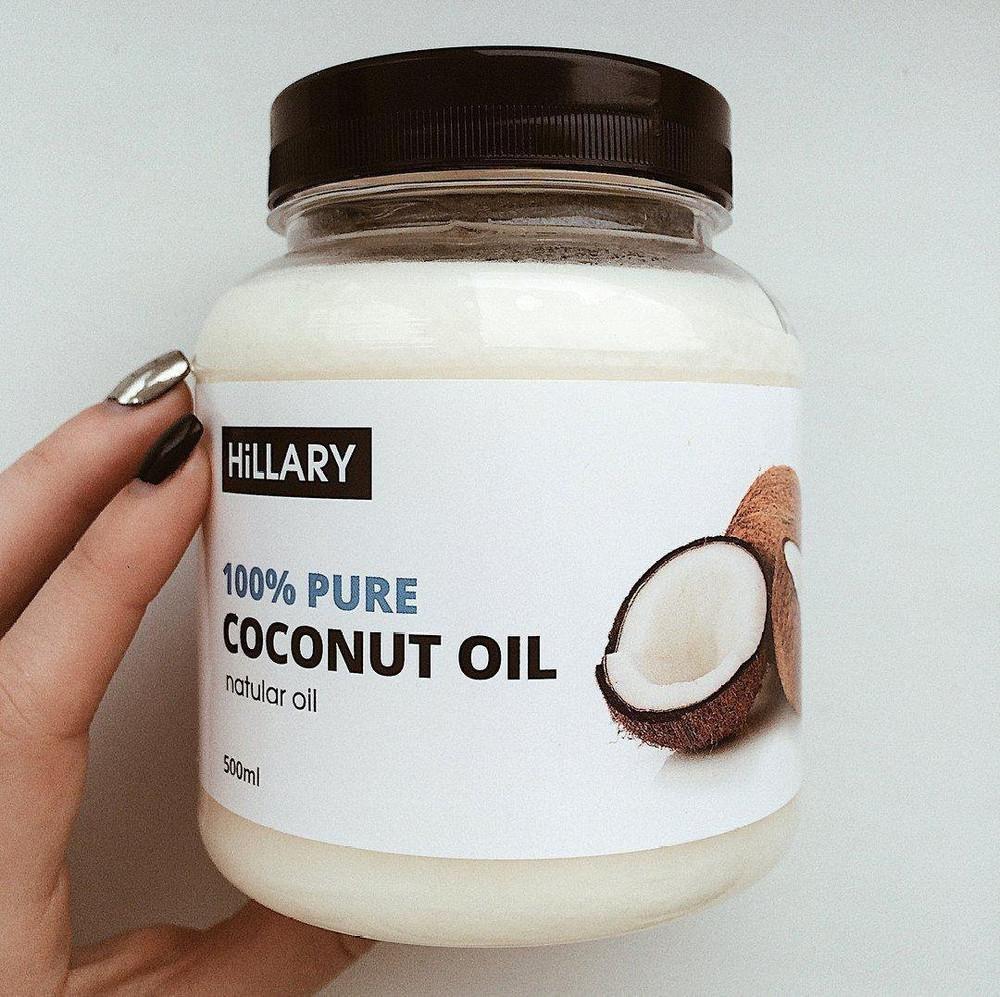 Кокосовое масло рафинированное hillary premium quality coconut oil 500 фото №1