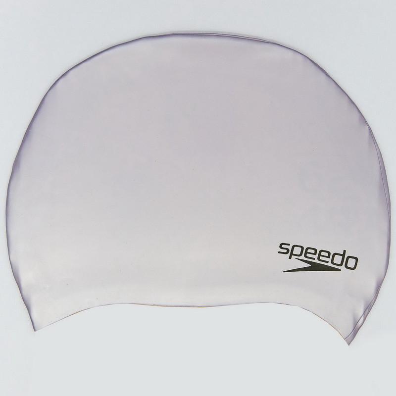 Шапочка для плавания speedo plain moulded 849086: силикон, цвет серебро фото №1