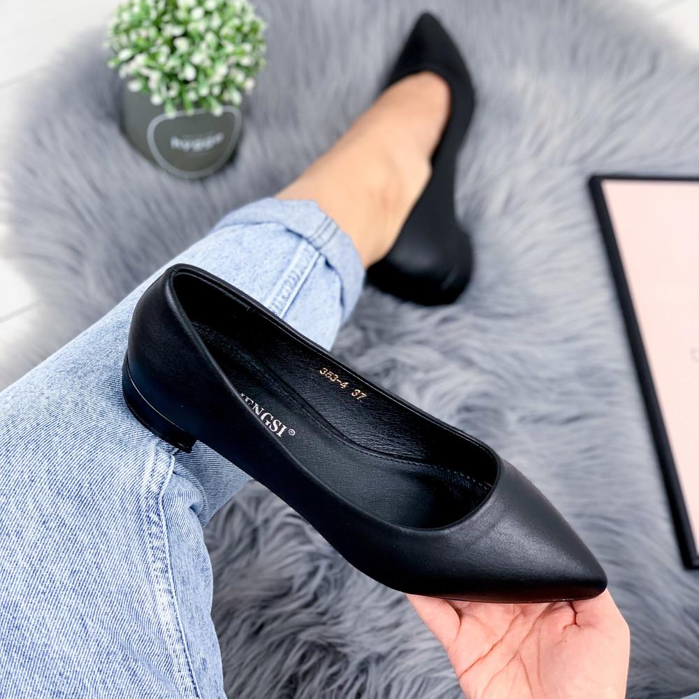Туфли женские jelly черные кожа фото №1