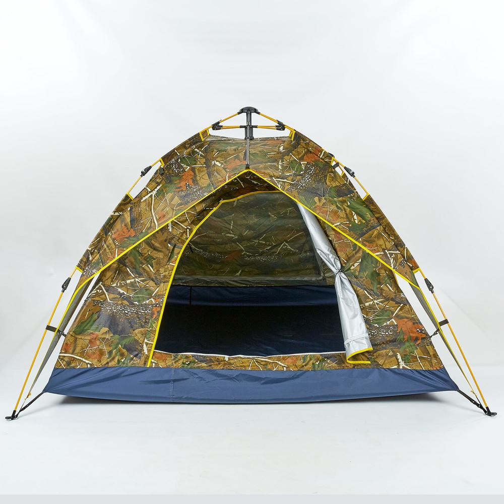 Палатка-автомат с автоматическим каркасом четырехместная туристическая 0539: размер 2х2х1,35м фото №1