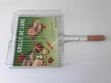 Решетка-барбекю №511  с деревянной ручкой lux высокое фото №1