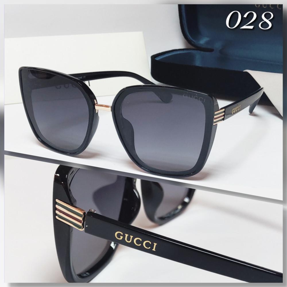 Женские очки черные с поляризацией фото №1