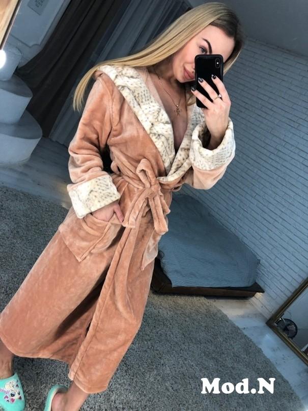 Длинные махровые халаты фото №1