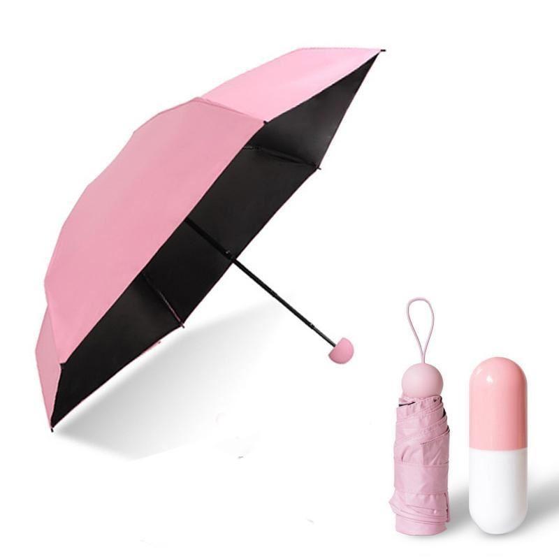 Дорожный зонт в герметическом чехле-капсуле из водонепроницаемого пилиэстера с защитой от ветра фото №1