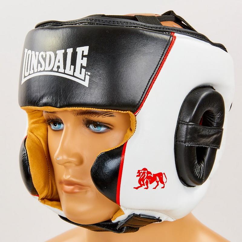 Шлем боксерский в мексиканском стиле кожаный lonsdale xpeed 8341 (шлем для бокса): размер m-xl фото №1
