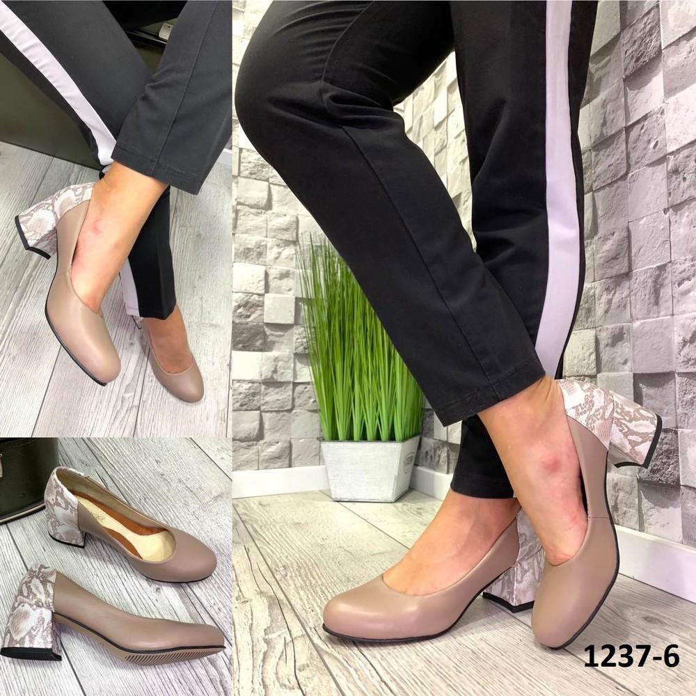 Эксклюзивные закрытые туфли натуральная кожа фото №1