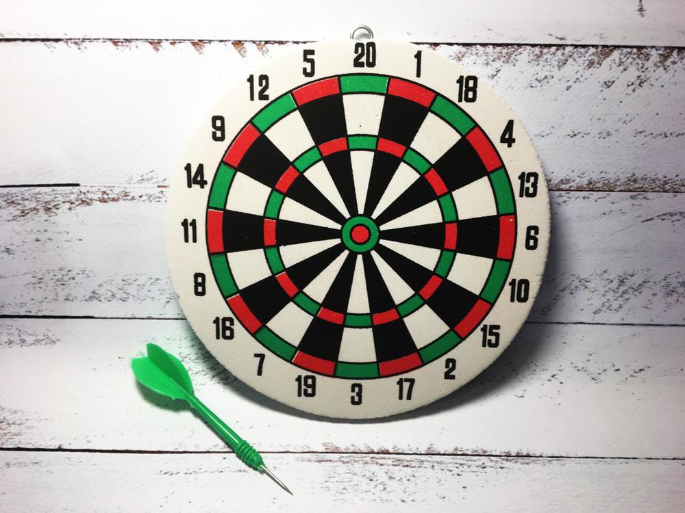 Спортивная двусторонняя игра дартс диаметр 18 см фото №1