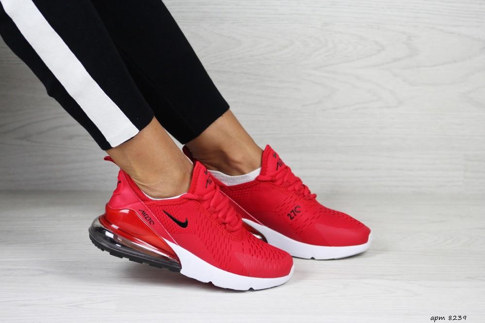 Кроссовки женские nike air max 270 красные 36-41р фото №1