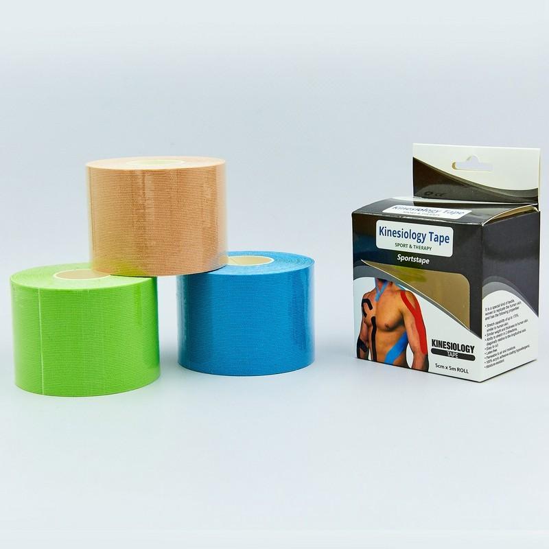 Кинезио тейп эластичный пластырь kinesio tape 0841-5: длина 5м, ширина 5см фото №1