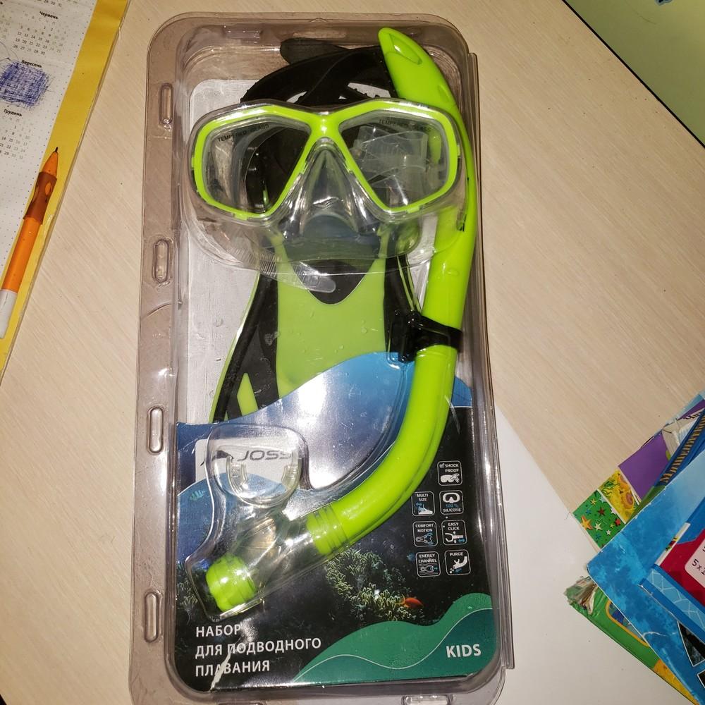 Ласты, маска, трубка joss для плаванья 32-34 р фото №1