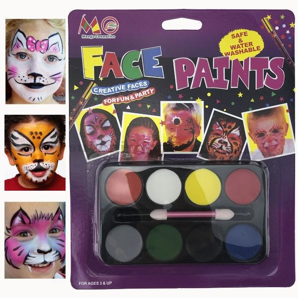 Набор красок 8в1 для лица. детский аквагрим. детский грим фото №1