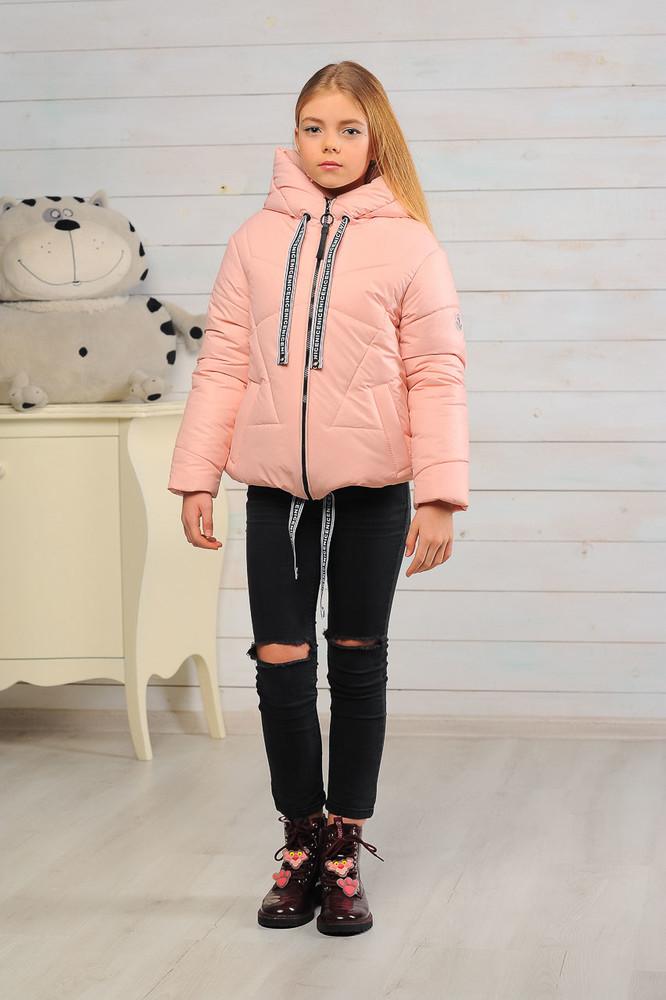 Демисезонная куртка для девочек, персик фото №1