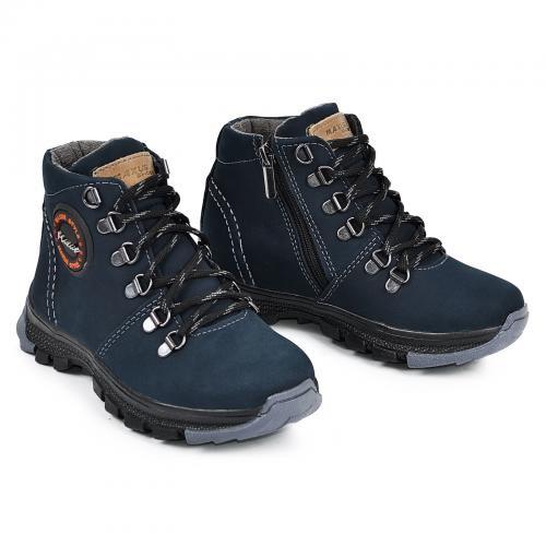 Демисезонные ботинки на мальчика максус 32-36 рр. кожа\флис фото №1