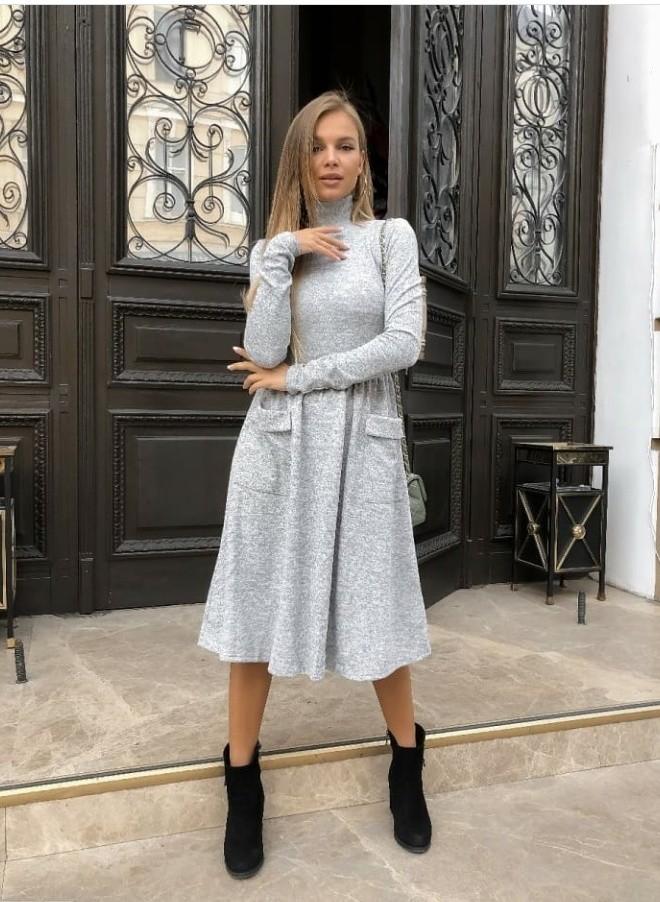Тёплое платье ангора софт!в наличии есть разные размера! фото №1