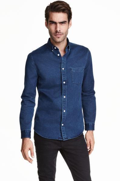 H&m джинсовая рубашка фото №1