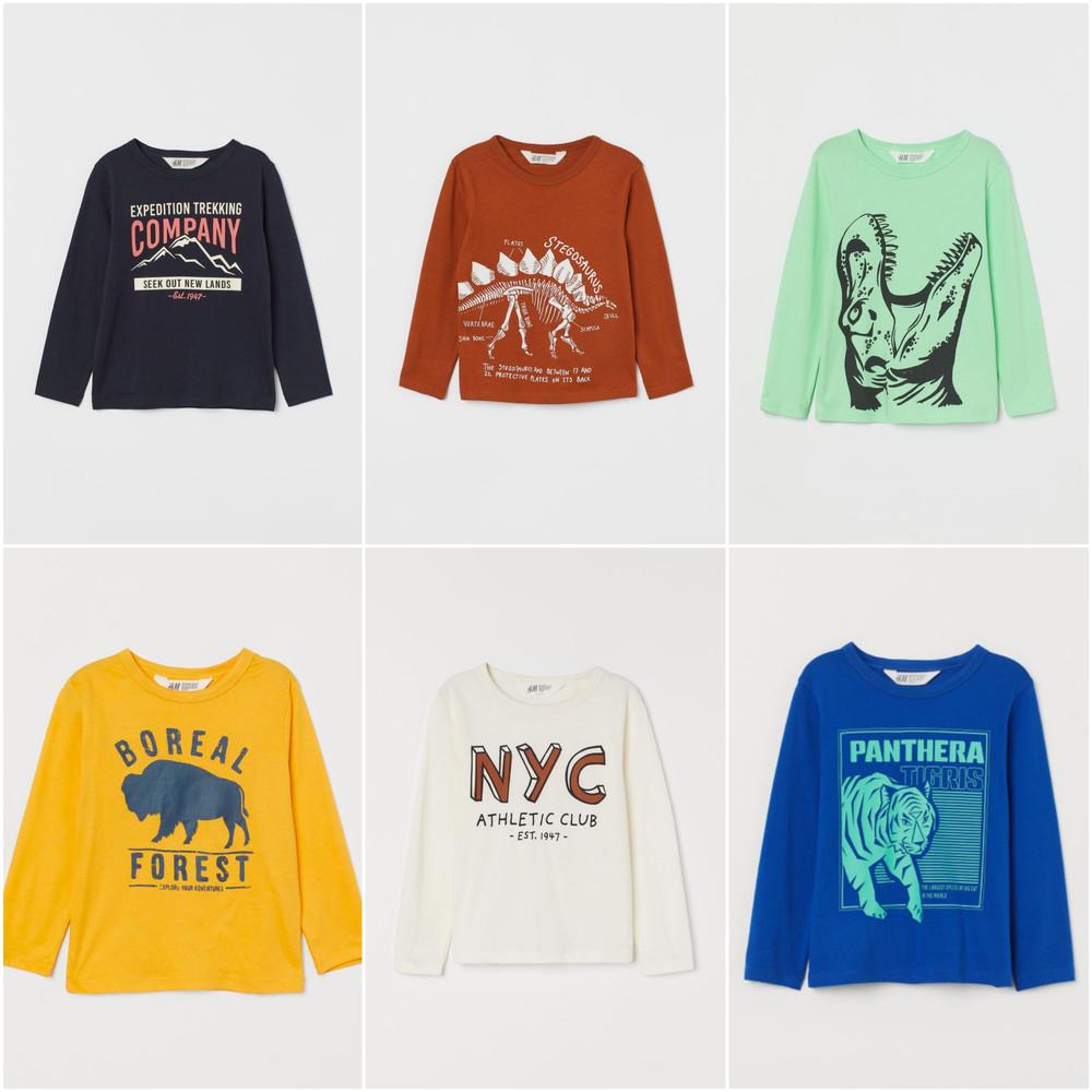 Регланы h&m мал 2-4-6-8-10 лет рост 104-116-128-134-140 кофта футболка фото №1