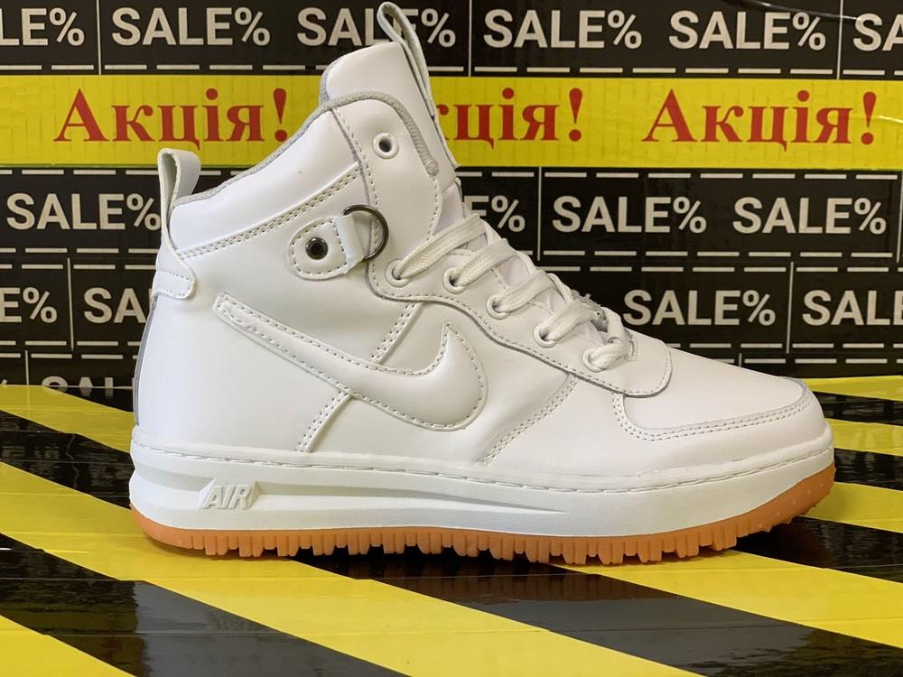 Женские кожаные демисезонные кроссовки nike lunar force 1!!! распродажа брендовой обуви фото №1