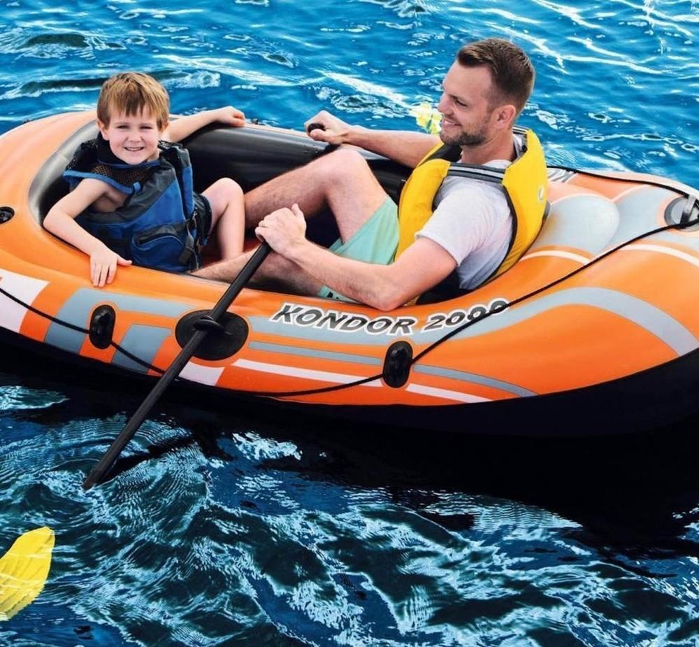 Півторамісна надувна лодка. суперціна! фото №1