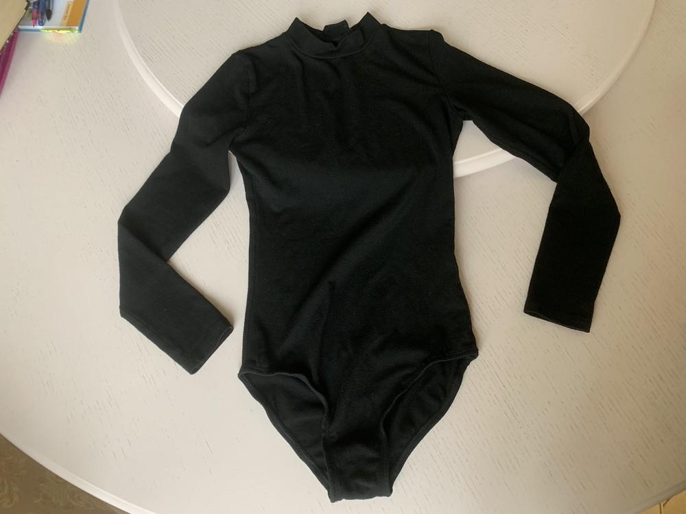 Спортивный купальник овация 38 раз, на липучке, 6 лет, гимнастика, длинный рукав фото №1