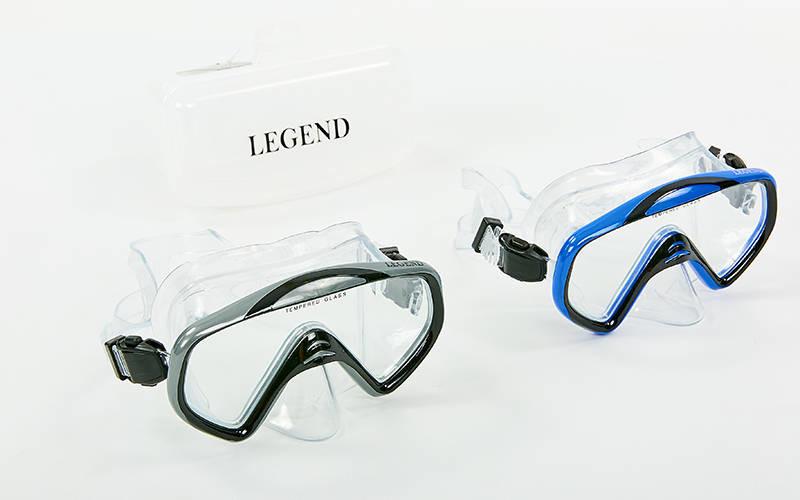 Маска для плавания legend m167-pvc: термостекло, пластик фото №1