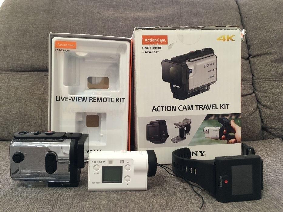 Экшен камера sony fdr-x3000 с пультом rm-lvr3+aka-fgp1 фото №1