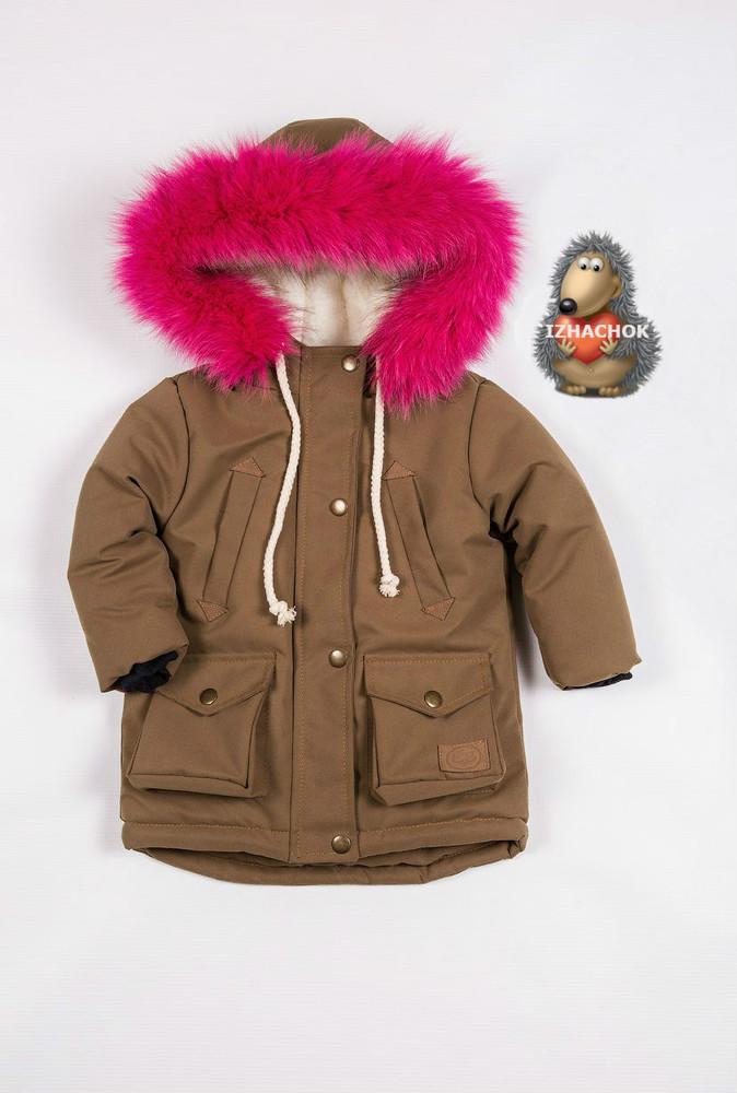 Детская куртка парка для девочки фото №1