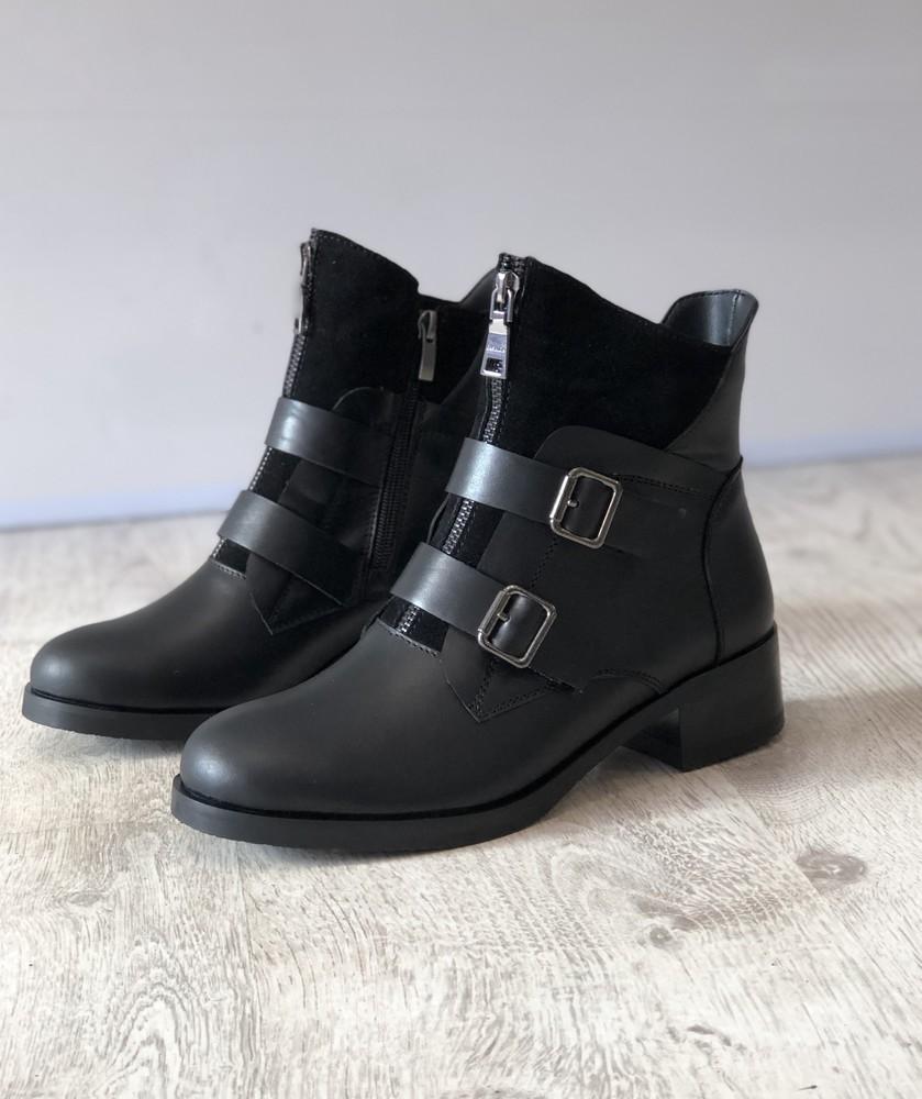 Новинка ! зимние кожаные ботинки! фото №1