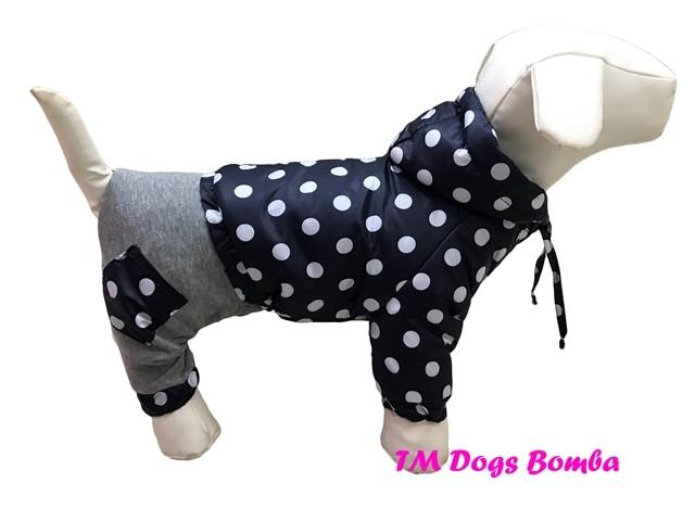 Комбинезон для собачек с отсежными шанами горошек co-15 фото №1