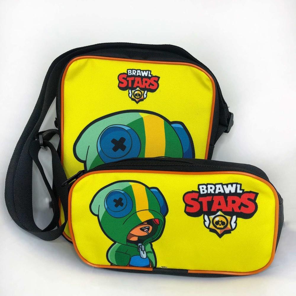 Сумочка ( сумка ) + пенал набор brawl stars бравл старс фото №1