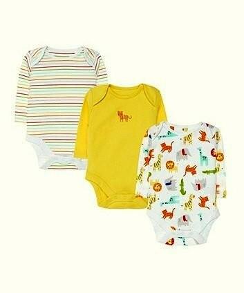 Набор боди с длинным рукавом от mothercare из англии, 6-9,9-12,12-18,18-24, 2-3 года фото №1