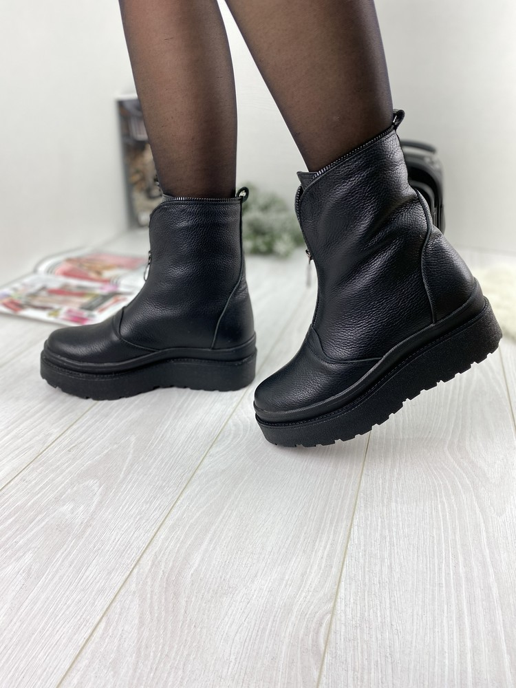 Кожаные женские зимние ботинки львова, фабрика stepter фото №1