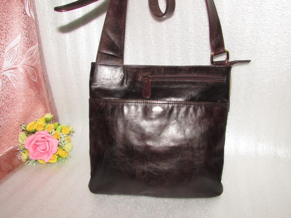 Мужская сумка 100% натуральная кожа =genuine leather=индия фото №1