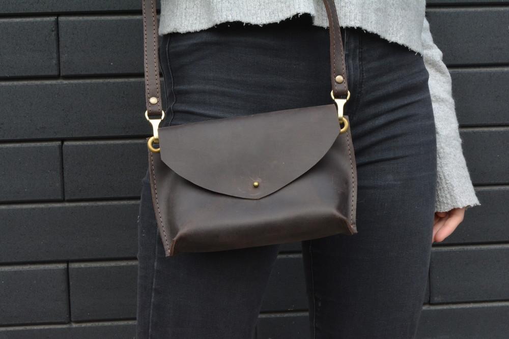 Кожа. ручная работа. кожаная женская сумка, сумочка фото №1