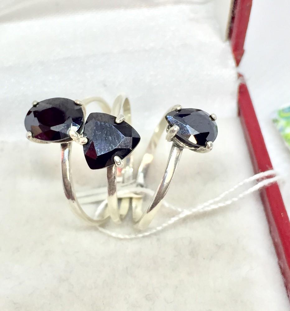 Новое тройное серебряное кольцо куб.цирконий серебро 925 пробы фото №1