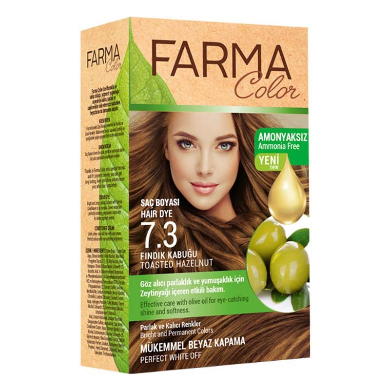Крем-фарба для волосся farma color 7.3 горіховий фото №1