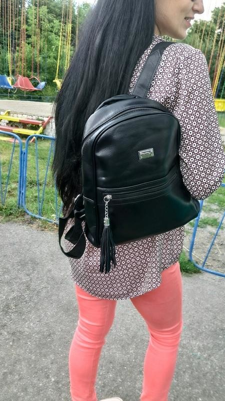 Женский рюкзак черный, рюкзак для девушки, рюкзак жіночий фото №1