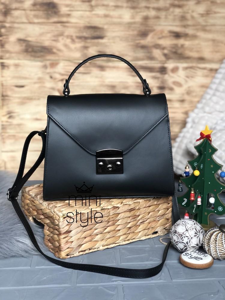 Кожа кожаная сумка на длинной ручке cross-body сумочка трендовая и стильная кроссбоди фото №1