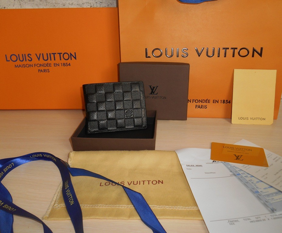 Кошелек, портмоне, бумажник мужской louis vuitton, кожа, франция фото №1