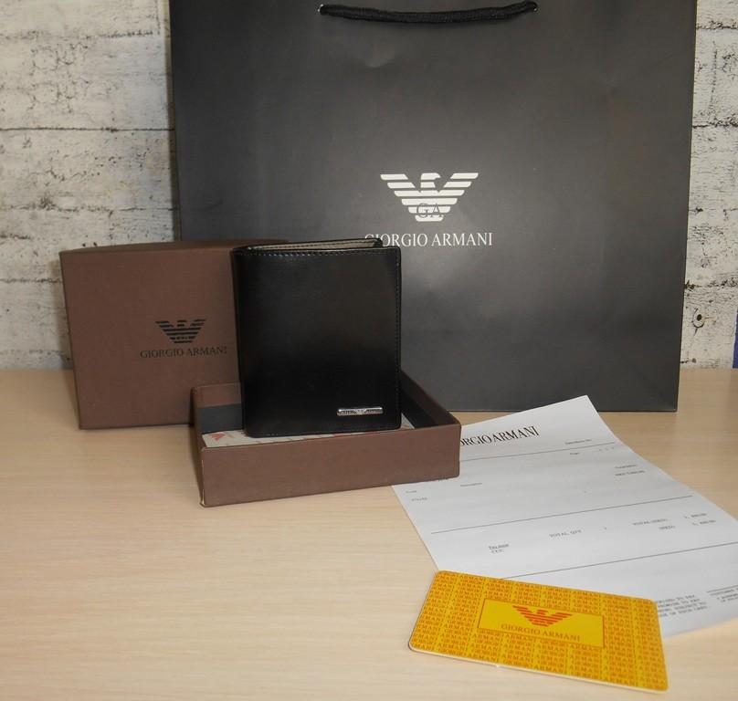 Мужской кошелек, портмоне, бумажник armani, кожа, италия 9-002 фото №1